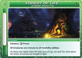 Chaotic Trading Card Game Silent Sands Location Single Card Uncommon #92 Forest of Life During Aichlyys