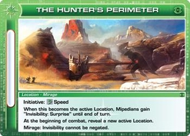 Chaotic Trading Card Game Silent Sands Location Single Card Uncommon #93 The Hunter's Perimeter