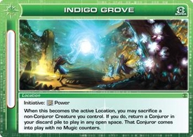 Chaotic Trading Card Game Silent Sands Location Single Card Super Rare #94 Indigo Grove