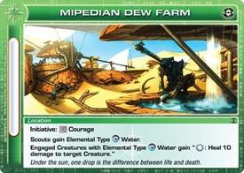 Chaotic Trading Card Game Silent Sands Location Single Card Common #96 Mipedian Dew Farm