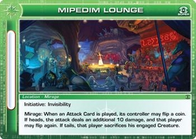 Chaotic Trading Card Game Silent Sands Location Single Card Super Rare #97 Mipedim Lounge
