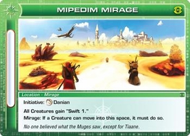 Chaotic Trading Card Game Silent Sands Location Single Card Rare #98 Mipedim Mirage