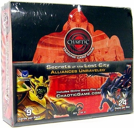 Chaotic Card Game Series 8 Secrets of the Lost City: Alliances Unraveled Booster Box [24 Packs]