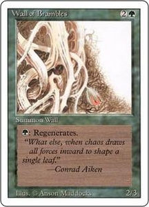 Magic the Gathering Revised Edition Single Card Uncommon Wall of Brambles