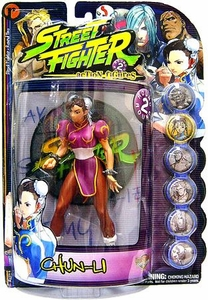 Street Fighter 3rd Strike Resaurus Action Figure Round 2 Chun-Li [Pink Version]