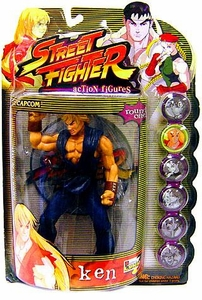 Street Fighter 3rd Strike Resaurus Action Figure Round 1 Ken [Blue Version]
