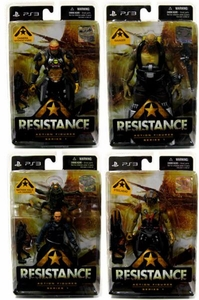 DC Direct Resistance Set of 4 Action Figures [Chimera Advanced Hybrid, Nathan Hale, Ravager &Steelhead]