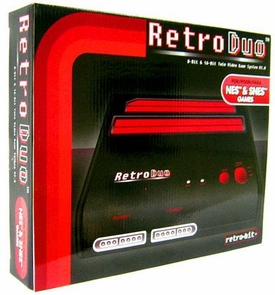 Retro Duo Nintendo Twin Video Game System NES & SNES [Black & Red]