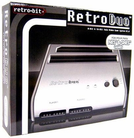 Retro Duo Nintendo Twin Video Game System NES & SNES [Silver & Black]