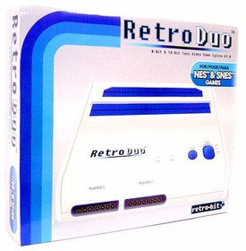 Retro Duo Nintendo Twin Video Game System NES & SNES [White & Blue]