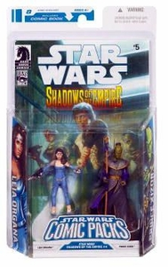 Star Wars 2009 Comic Book Action Figure 2-Pack Dark Horse: Shadows of the Empire #5 Leia [Blue Gown] & Prince