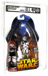 Star Wars Revenge of the Sith Clone Commander [Battle Gear] AFA Graded 85 BLOWOUT SALE!