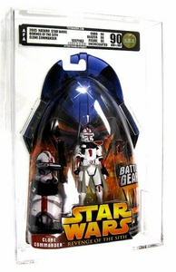 Star Wars Revenge of the Sith Clone Commander [Battle Gear] AFA Graded 90 BLOWOUT SALE!