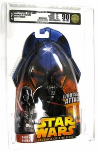 Star Wars Revenge of the Sith Darth Vader [Lightsaber Attack] AFA Graded 90