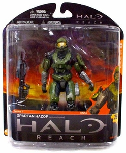 Halo Reach McFarlane Toys Series 1 Action Figure OLIVE / STEEL Spartan Hazop Custom {Male}