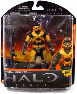 Halo Reach McFarlane Toys Series 1 Exclusive Action Figure GOLD / STEEL Spartan Mark V [B] {Male} COLLECTOR'S CHOICE!