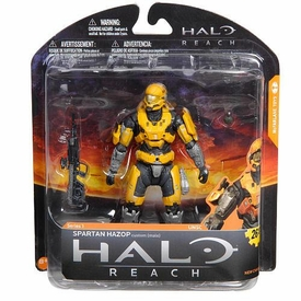 Halo Reach McFarlane Toys Series 1 Exclusive Action Figure GOLD / STEEL Spartan Hazop Custom {Male}