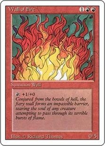 Magic the Gathering Revised Edition Single Card Uncommon Wall of Fire