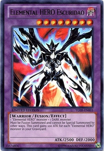 YuGiOh Shonen Jump Promo Single Card Ultra Rare YG09-EN001 Elemental HERO Escuridao Hot!