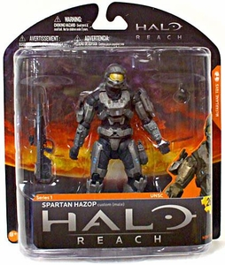 Halo Reach McFarlane Toys Series 1 Exclusive Action Figure STEEL / STEEL Spartan Hazop Custom {Male} COLLECTOR'S CHOICE!