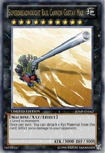 YuGiOh Shonen Jump Promo Single Card Ultra Rare JUMP-EN062 Superdreadnought Rail Cannon Gustav Max