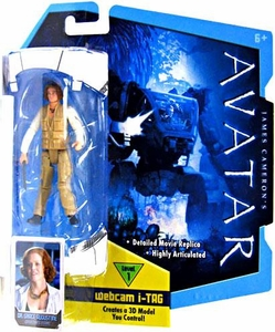 James Cameron's Avatar Movie 3 3/4 Inch RDA Action Figure Dr. Grace Augustine [Human Body]