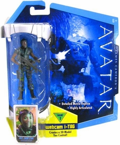 James Cameron's Avatar Movie 3 3/4 Inch RDA Action Figure Sean Fike with Face Mask BLOWOUT SALE!