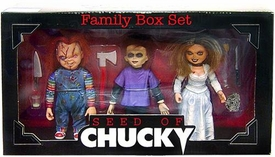 NECA Cult Classics Deluxe Action Figure 3-Pack Family Box Set Seed of Chucky