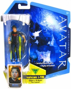 James Cameron's Avatar Movie 3 3/4 Inch RDA Action Figure Jake Sully in Wheelchair with Long Hair & Harley Davidson T-Shirt [Human Body] BLOWOUT SALE!