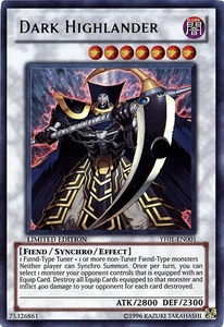 YuGiOh Shonen Jump Promo Single Card Ultra Rare YF01-EN001 Dark Highlander BLOWOUT SALE!