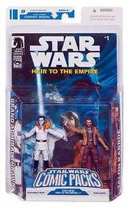 Star Wars 2009 Comic Book Action Figure 2-Pack Dark Horse: Heir to the Empire #1 Grand Admiral Thrawn & Talon Karrde