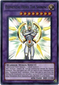YuGiOh Shonen Jump Promo Single Card Ultra Rare YG06-EN001 Elemental Hero The Shining