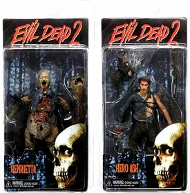 NECA Evil Dead 2 Series 2 Set of Both Action Figures [Hero Ash & Henrietta]