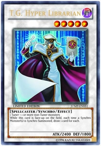 YuGiOh Shonen Jump Promo Single Card Ultra Rare JUMP-EN051 T.G. Hyper Librarian BLOWOUT SALE!