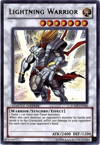 YuGiOh Shonen Jump Promo Ultra Rare Single Card JUMP-EN046 Lightning Warrior