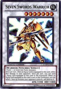 YuGiOh Shonen Jump Promo Ultra Rare Single Card JUMP-EN047 Seven Sword Warrior