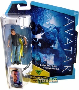 James Cameron's Avatar Movie 3 3/4 Inch RDA Action Figure Jake Sully in Wheelchair with Crewcut Hair [Human Body] BLOWOUT SALE!
