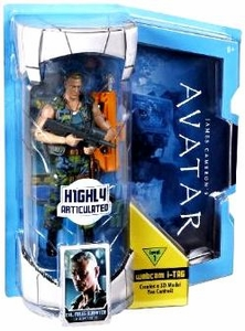 James Cameron's Avatar Movie Masters Deluxe 6 Inch Action Figure Col. Miles Quaritch [Level 1] with i-TAG