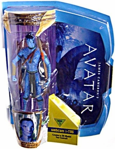 James Cameron's Avatar Movie Masters Deluxe 6 Inch Action Figure Avatar Jake Sully (Level 1) with i-TAG [Na'Vi Avatar]