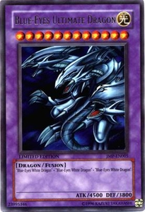 YuGiOh Shonen Jump Promo Single Card Ultra Rare JMP-EN005 Blue Eyes Ultimate Dragon