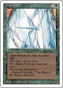 Magic the Gathering Revised Edition Single Card Uncommon Wall of Ice
