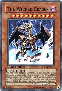 YuGiOh Shonen Jump Promo Single Card Ultra Rare JUMP-EN016 The Wicked Eraser