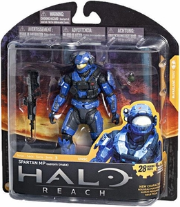 Halo Reach McFarlane Toys Series 3 Action Figure Team BLUE Spartan MP Military Police {Male} [Custom]