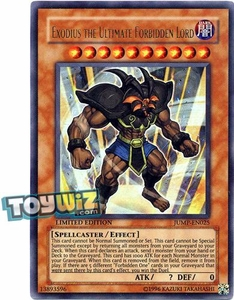 YuGiOh Shonen Jump Promo Single Card Ultra Rare JUMP-EN025 Exodius the Ultimate Forbidden Lord