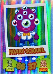Topps Moshi Monsters Mash Up! Trading Card Game Rainbow Foil Single Card Roary Scrawl