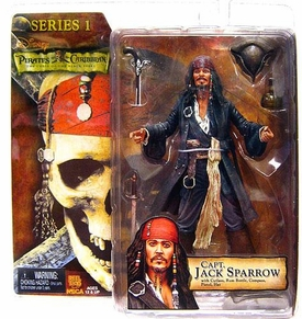NECA Pirates of the Caribbean Action Figure Series 1 Captain Jack Sparrow [Grinning Face]