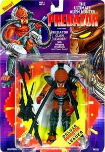 Predator Kenner Vintage 1994 Action Figure Predator Clan Leader [with Whipping Dreadlocks & Power Boots!]