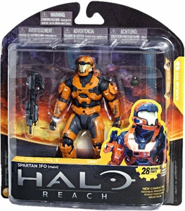 Halo Reach McFarlane Toys Series 3 Exclusive Action Figure RUST ORANGE Spartan JFO {Male}