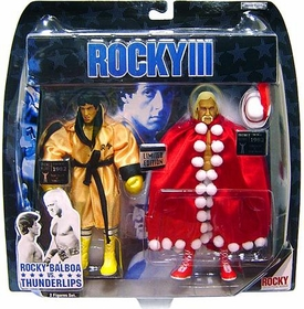 Jakks Pacific Rocky III Exclusive Action Figure 2-Pack Rocky Vs. Thunderlips