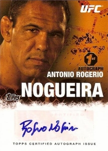 UFC Topps Ultimate Fighting Championship 2010 Championship Single Card Autograph Fighters & Personalities FA-ARN Antonio Rogerio Nogueira